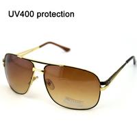 New sunglasses polarized sunglasses for women/men vintage sun glasses aviator gradient dark coffee lens Free shipping 10185-1