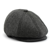 2014 New Arrival Fashion stylle Men Unisex Peaked cap Face warm cap Beret man Peaked cap man hat  free shipping
