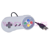 Classic Color Theme for SNES Controller USB Gamepad for PC Game