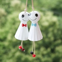 Car pendant jingdezhen ceramic japanese style windbags car accessories doll national trend Sunny Doll