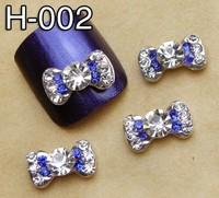 Free Shipping 2014 New 3D Alloy Bow Tie Rhinestones Nail Art DIY Decoration Colorfull Nail Jewelry 20Pcs\Lot