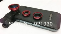 Free shipping Universal Clip 3 In 1 lens wide angle macro fish eye digital camera lens for cell phone