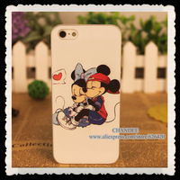 hello kitty cartoon panda cat case cover for iphone 5 5s for iphone 4 4s 4g embossing mickey mouse cover