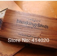 2014 New Rushed Brown Scrapbooking Stamps Famous Film Breaking Drawn Vintage Decor Collection Set Wooden Box Album Sealing Wax