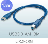 Free Shipping By FedEx,USB3.0 A Male to B Male Extension Cable USB3.0 Cable AM TO BM 1.8m 5.9ft 4.8Gbps speed Support USB2.0 Hot