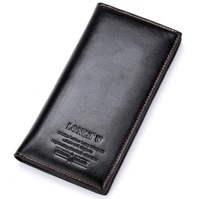 HOT SALE 2014 popular 8color brand leather wallet purse men long wallets for male and female free shipping retail and wholesale