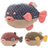 2014 new Fish Pillow Multicolour polka dot mermaid plush toy doll lovers cushion pillow, free shipping , 3colors