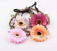 NEW Bride Bohemian Sunflower Headband Festival Wedding Sun Flower Floral Garland Hair Band Hair Accessories Wholesale ZH27