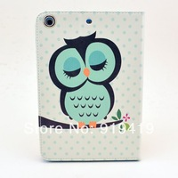 Wholesale Lovely owl Tablet PC Case for iPad mini  free shipping IMYH001