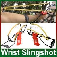 New catapult velocity Foldable Wrist Support Sling Shot Slingshot Catapult Outdoor Hunting Fishing Red barnett cobra sling shot