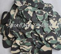50 pcs new medium 0.71mm Blank Camouflage Green guitar picks Celluloid No Print
