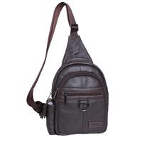 gold coral new leather chest pack bag leather multifunction chest  pack bag men Handbag men travel bags backpack travel