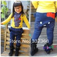 2014 New Hot Spring Girls Pants Cotton Hello kitty Jeans Children's Hallen pants Harem pants pencil pants