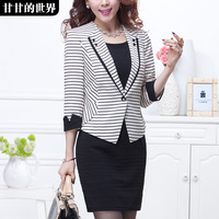 Women's fashion formal 2014 spring outerwear suit  Free shipping