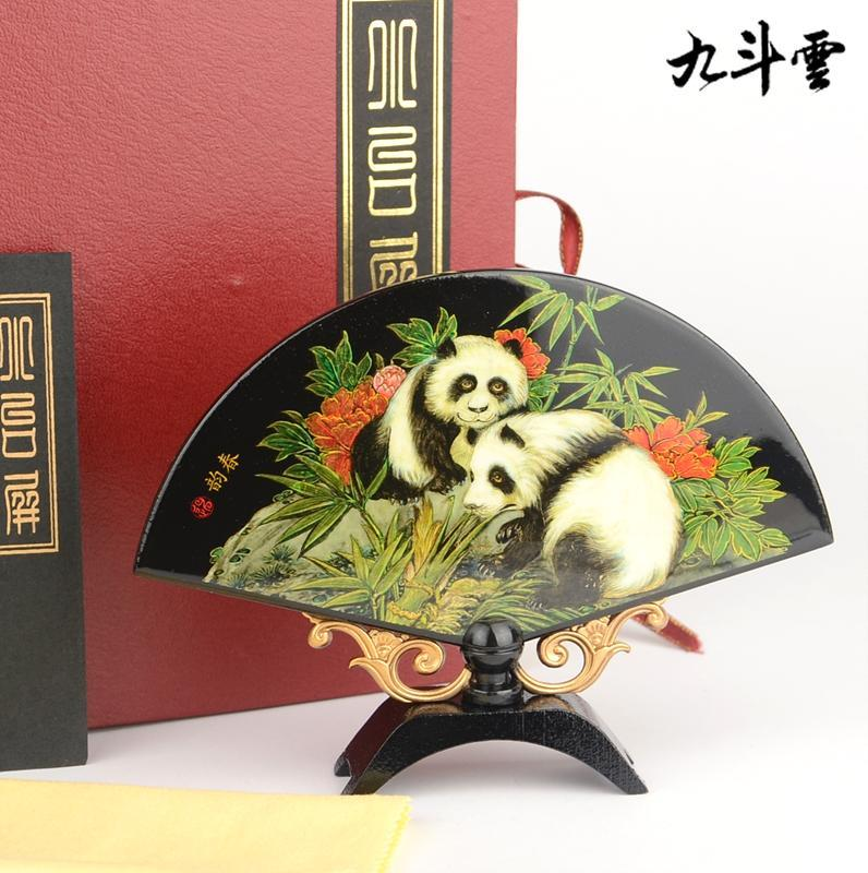 ... style push light lacquer small fan table screen(China (Mainland