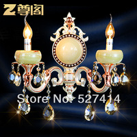 [ Court ] imported crystal statue jade wall leading European lamp aisle lights Crystal Wall Z065 Qing Yuan