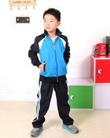 new 2014 Children's sports clothes suit clothing set tracksuits