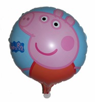 18 inch peppa pig  balloons party decoration birthday party inflatable balloon for children's day