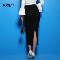 Krazy 2014 elegant charming after vent slim hip bust skirt dress knitted step 6274  women clothing