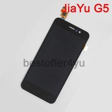 100%  original  jiayu G5 JY G5 touch Screen Digitizer + LCD display screen for  jiayu G5 cell phone + tracking code