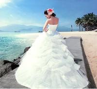 2014 bride wedding formal dress plus size princess tube top train lace wedding dress