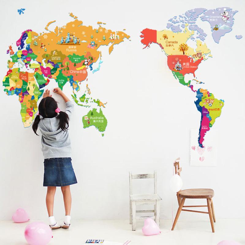 Decoratie wereldkaart die neuesten innenarchitekturideen - Decoratie kind ...