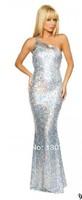 2014Europe and America  Slim mermaid oblique Dinner Dress Fashion Party Dress essential Evening Dresses