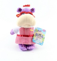 Doc McStuffins toys plush stuffed doll animals toy HALLIE hippo cute glasses 22cm soft kids baby toys dolls for children girls
