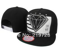 4 colors Diamond Letter Baseball Caps hip-hop cap diamond snapback bboy adjustable hats for men women NEW 2014 spring Sport Hats