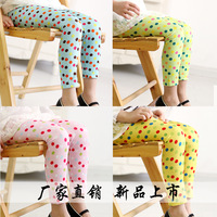 2014 New products listed spring hot-selling dot female child jumpsuit socks legging free shipping