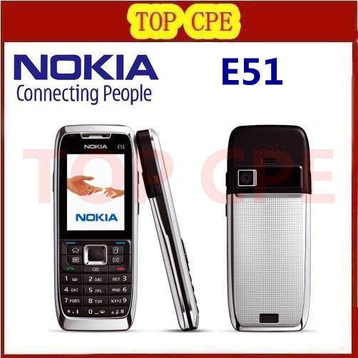 Original Refurbished Nokia E51 Mobile Phones WIFI Bluetooth JAVA Unlock Cell Phone Free Shipping In Stock(China (Mainland))