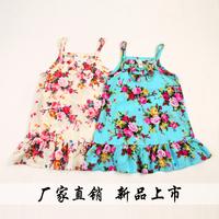 wholesale 2014 summer female child all-match kid's skirt suspender skirt one-piece dress free shipping