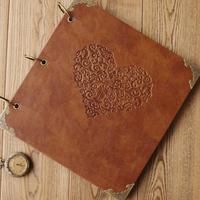 Quality leather handmade diy gift photo album fashion vintage photo album big ben paste type