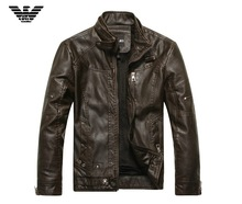 2014 new arrive men's spring winter genuine leather jacket men motorcycle sheepskin coat size M-2XL top quality free shipping(China (Mainland))