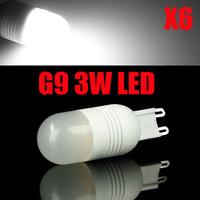 6XHigh Power G9 3W LED lamp MINI Ceramic LED Bulb Light Beads SMD Crystal Light Source AC220-240V Cold white/warm white