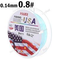 100m Long 0.8# 0.14mm Diameter 4.5kg Abrasion Resistant Fishing Line Spool Fishing Rope YH-132313
