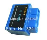 100pcs/Lot Free shipping Mini ELM327 Blue Color Bluetooth OBD2  Auto Diagnostic Scanner Tool Blue Color