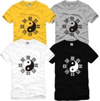 On sale Male Women Tai chi martial arts clothing leotard 100% cotton o-neck short-sleeve T-shirts hip-hop streetwear tees shirts