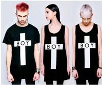On Sale Men's clothing women's boy london cross bigbang 100% cotton T-shirt short-sleeve o-neck streetwear tees shirts