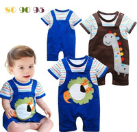 New 2014 HOT Baby clothes baby romper boy and girls clothes Animal motifs  cartoon  6 pieces/lot