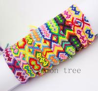 Rainbow Handmde string Rope mens Friendship Bracelet 2014 cotton