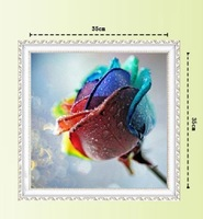 Free shipping DIY Diamond Painting Colorful Rose Rhinestone Cross Stitch Kits Diamond Embroidery Needlework Set