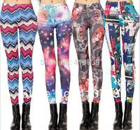 2014 Spring,Summer, New milk Silk elastic Printed Leggings Fashion nine Minutes of Pants 808