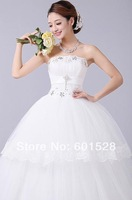 Wholesale -  new 2014 princess bind wipes bosom Wedding dresses, 674-10120
