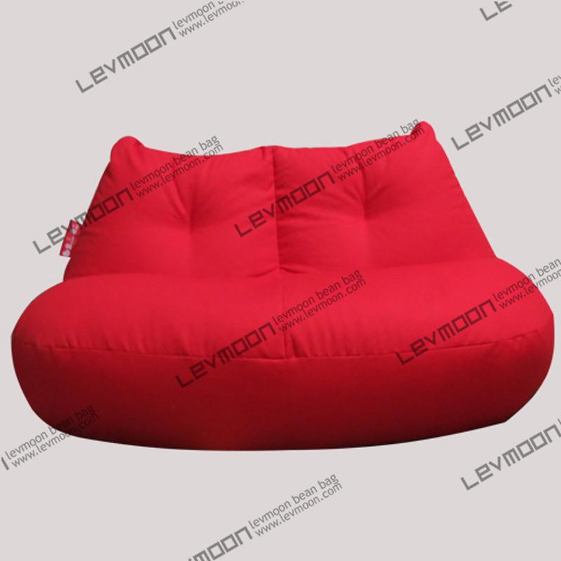 FREE SHIPPING red bean bag cover modern loveseat sofa chair 100% cotton canvas love seats bean bag furniture Double Sofa(China (Mainland))