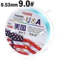 9# 100m Long 0.53mm Diameter 33kg Abrasion Resistant Fishing Line Spool Fishing Rope YH-132326