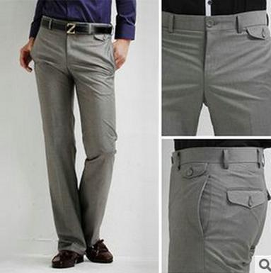 2018 Wholesale New Mens Slim Fit Casual Business Suit Pants Formal