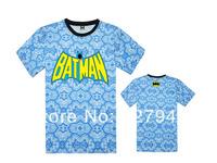 2014 new arrival Batman Floral T shirts New style 100% cotton Men's T-shirts 6 styles short sleeve Free Shipping Szie S-XXXL