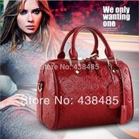 Floral Embossed Genuine Women Leather Handbags Brand Famous Ladies Bags Small Shoulder Bag Crossbody
