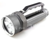 New Super Diving Flashlight Searchlight 4xCREE XML L2 7800lm Magnetic Switch LED Flashlight  Underwater led light Silver